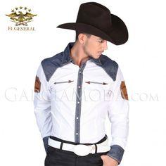 Camisa El General Western Wear 122302 White  Vaquero Western