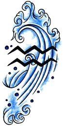 Aquarius Tattoos Designs