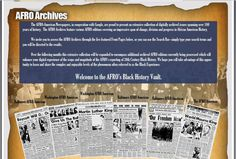 AFRO Black History Archives  The Afro-American Newspapers  http://www.afro.com/afroblackhistoryarchives/