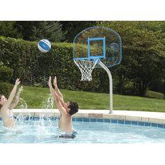 Dunnrite Junior Clear Hoop Swimming Pool Basketball Hoop