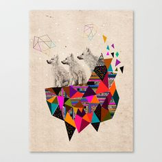 The Night Playground by Peter Striffolino and Kris Tate Stretched Canvas