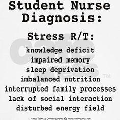 Shop Student Nurse Diagnosis Ash Grey Light T-Shirt designed by rebeccakorpita. Nursing Student Quotes, Nursing School Humor, Nursing Tips, Nursing Notes, Nurse Quotes, Nursing Students, Funny Nursing, Student Nurse Humor, Nurse Sayings