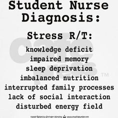Student nurse diagnosis..If you are in nursing school you WILL understand