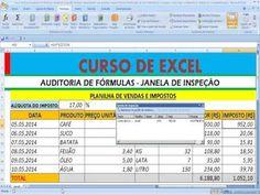 YouTube Rastreamento entre fórmulas e células precedentes e dependentes no Excel Auditar fórmulas no Excel.  Janela de inspeção no Excel. Avaliar fórmula no Excel. Verificar erros na Planilha Excel. Referências circulares no Excel. Como fazer a verificação ou rastreamento de células que chamam ou se relacionam ou dependem de outras células e fórmulas na Planilha Excel  https://youtu.be/egIf0Alw9f0