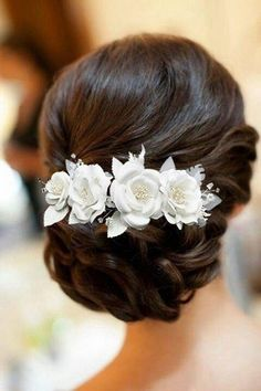 White Lace Silky Flower Crystals Bridal Wedding Headpiece Head Wrap Hair Clip - Weddings: Dresses, Engagement Rings, and Ideas Wedding Updo, Wedding Hair And Makeup, Hair Makeup, Wedding Lace, Wedding White, Hair Accessories For Women, Wedding Hair Accessories, Wedding Jewelry, Natural Hair Bun Styles