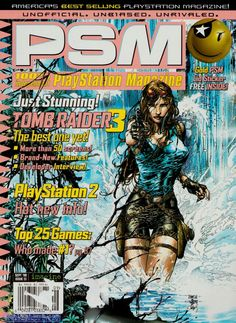 PSM Issue #13 Sept., 1998. Tomb Raider III Preview | Cover art by David Finch