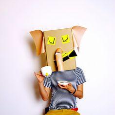 "elephant ""cartoon animals"" by linus & the feelgood factory Cardboard Play, Cardboard Costume, Cardboard Crafts, Cardboard Mask, Paper Crafts, Diy Karton, Art For Kids, Crafts For Kids, Bible School Crafts"