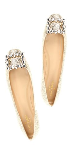 Kate Spade sparkle flats? Yes, please!