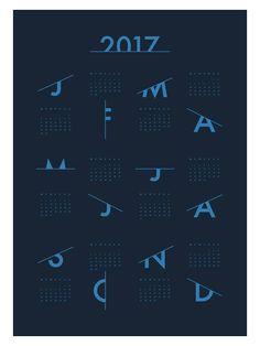 2017 Midnight Blue Calendar by Coco Lapine