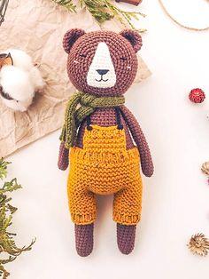 Happy Bear Amigurumi Free Pattern - Lovelycraft Free Pattern, Crochet Patterns, Teddy Bear, Toys, Happy, Animals, Stitches, Bee Crafts, Crochet Toys