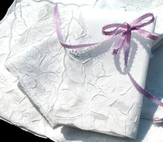 Embroidered Cherokee Rose Bridal Lace Hankie - Personalized. $29.00, via Etsy.