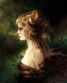 The Seelie Court fall nails glitter - Fall Nails Magical Creatures, Fantasy Creatures, Woodland Creatures, Fantasy World, Fantasy Art, Fantasy Fairies, Dark Fairies, Dragons, Beautiful Fairies