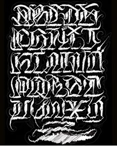Tattoo Lettering Design, Gothic Lettering, Chicano Lettering, Script Lettering, Graffiti Lettering Alphabet, Calligraphy Letters Alphabet, Tattoo Fonts Alphabet, Calligraphy Signs, Letter R Tattoo