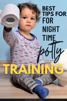 Wondering when your child will be dry at night? Here are the best tips for night time potty training to help your child ditch diapers for good. Toddler Potty Training, Potty Training Tips, Night Time, Diapers, Children, Top, Young Children, Boys, Kids
