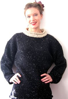 Patricia Roberts Knitting Patterns : Vintage Patricia Roberts angora hand knit red sweater vest with Fair Isle bac...
