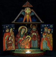 Whispers of an Immortalist: Infancy of Christ 2 Catholic Crafts, Christmas Nativity Scene, Infancy, Religious Art, Naive, Ikon, Folk Art, Bible, Gallery