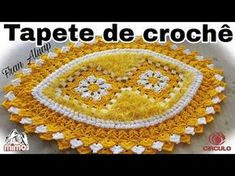 Tapete de crochê flor de lima - Fran Aluap - YouTube
