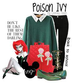 Poison Ivy by disney-teen on Polyvore featuring polyvore мода style MM6 Maison Margiela LeSportsac Big Bud Press Madina Visconti di Modrone fashion clothing BackToSchool batman poisonivy