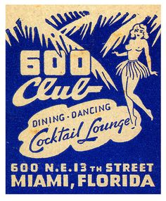 Dining & Dancing At The 600 Club. Miami, FL. www.GetMatches.com or call 800.605.7331 Today!