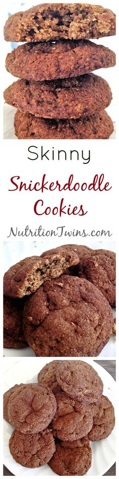 Skinny Snickerdoodle Cookies | ONLY 85 Calories | Great for squashing cravings | Portion Control -freeze 'em and take one as you'd like to defrost | For MORE RECIPES, Nutrition & Fitness Tips please SIGN UP for our FREE NEWSLETTER www.NutritionTwins.com