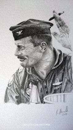 Pilot Uniform, Men In Uniform, Fighter Pilot, Fighter Jets, Robin Olds, F-14 Tomcat, Aviation Art, Military Art, Vietnam War