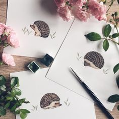 "8,754 Me gusta, 110 comentarios - ✧ Nina Stajner ✧ (@ninastajner) en Instagram: ""Having some hedgehog fun on this rainy day! I am currently working on something big... which I…"""
