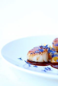Scallops with honey and hoisin sauce :D