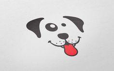 Happy dog symbol for zoo shop