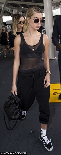 Keep it casual in some Vans sneakers like Hailey. Click 'Visit' to buy now. #DailyMail