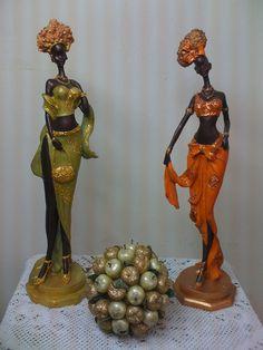 Arte Black, Black Art, Clay Dolls, Art Dolls, Clay Crafts, Arts And Crafts, African Crafts, African Paintings, African Dolls
