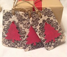 Christmas gift tags christmas tree gift tags. Paper by kC2Designs, $4.75