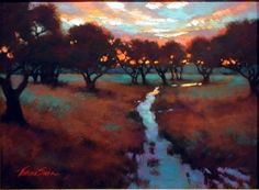 Evening Calm in the Hill Country by Teresa Saia Pastel ~ 18 x 24