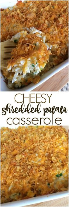 Cheesy Shredded Potato Casserole - Together as Family