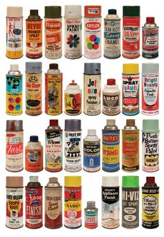 vintage spray cans. Jack and Darren, something new?