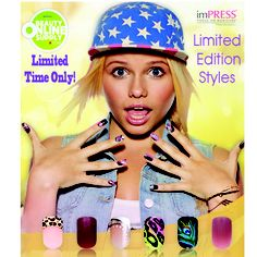 Woohoo, these limited edition imPRESS designs are available online. If you spend $20, shipping is free! Get them while they last here: http://www.beautyonlinesupply.com/nails-1/impress/alli-simpson-impress.html