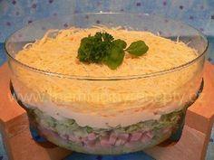 33 Vrstvený salát Pudding, Desserts, Hair Piece, Food, Tailgate Desserts, Deserts, Custard Pudding, Essen, Puddings