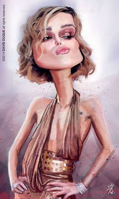 Keira Knightley by David Duque Funny Caricatures, Celebrity Caricatures, Keira Knightley, Create A Comic, Caricature Drawing, Art Graphique, Funny Cartoons, Funny Art, Famous Faces