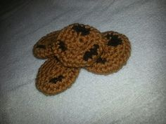 Chocolate Chip Cookie Cat Toy crochet by MsBekkahsCorner on Etsy, $2.00