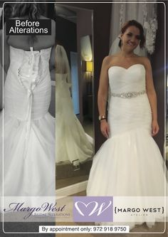 Best bridal alterations in Texas by Margo West    Margo West Bridal     Best bridal alterations in Texas by Margo West    Margo West Bridal  Alterations   Pinterest   Wedding gown alterations and Weddings