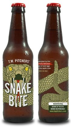 Bartenders began mixing draught beer and hard cider in the United Kingdom, where it quickly became a favorite among generations of pub-goers. T.W. Pitchers' Snake Bite® is a new American take on this classic British beverage, bottled for the first time.