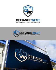 Defiance West Strength and Conditioning Logo Bold, Masculine Logo Design by genart