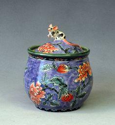 purple mouse jar, 19 x 16 cm