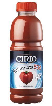 Prodotto Storico: La Passata 500 #Cirio. La prima Passata in PET! Tutta la qualità del pomodoro Cirio nel nuovo e pratico formato da 500 ml!