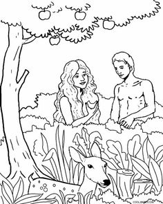 Awesome Adam And Eve Coloring Sheet Best Quality - http://www ...