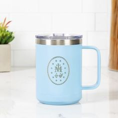 What better way to demonstrate your love for the Blessed Mother than by having Her favorite medal engraved on your favorite cup? #affiliatelink Coffee Travel, Travel Mug, St Rita Of Cascia, Catholic Company, Holy Rosary, Confirmation Gifts, Patron Saints, Blessed Mother, Our Lady