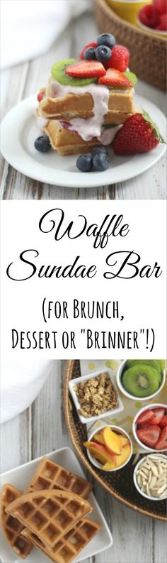 This fun Waffle Sundae Bar is great for weekend breakfasts and holiday brunches! (It's even a kid-favorite brinner, too!) So easy, and great for using up whatever's in the fridge! ~ from Two Healthy Kitchens at www.TwoHealthyKitchens.com