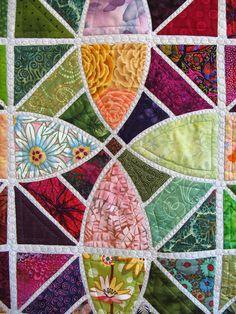"Tile Quilt, detail of 45"" x 45"""