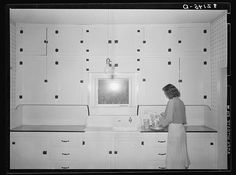 Russell Lee - Kitchen of tenant purchase client. Hidalgo County, Texas (1939)