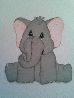 Zoo baby elephant animal kids paper piecing for scrapbooking by my tear bears kira