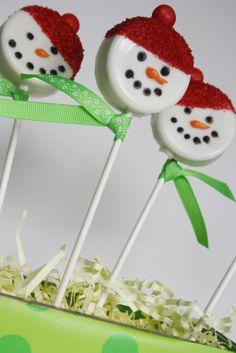 oreo snowman pops!
